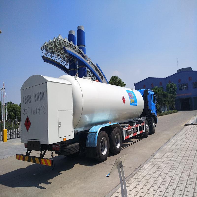 25方液化气加气车lpg槽罐车充装运输两用图片