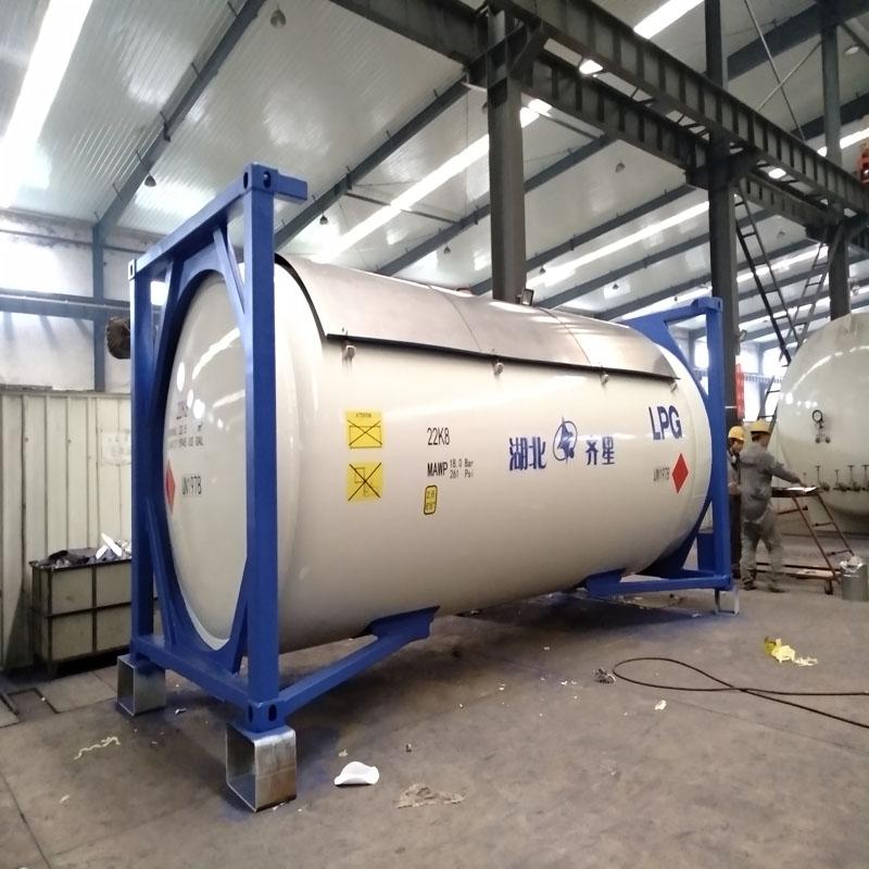 LPG罐箱移动式液化气储罐T50罐箱ASME认证厂家图片