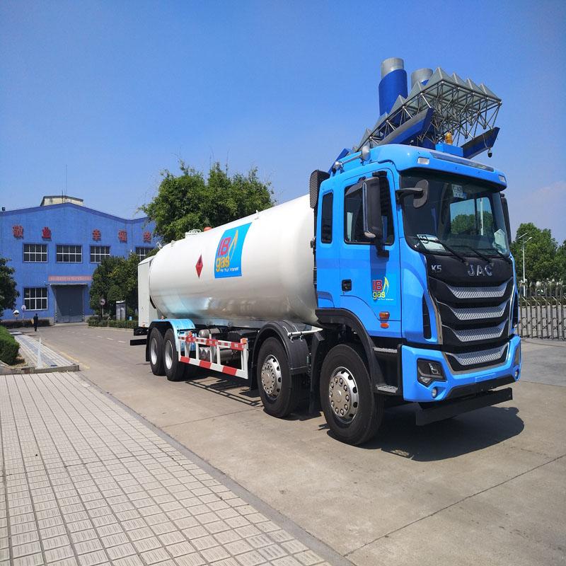 液化气加气车半挂带泵电机液化气槽罐车图片